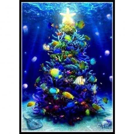 Full Drill - 5D DIY Diamond Painting Kits Christmas Tree in the River