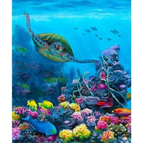 Full Drill - 5D Diamond Painting Kits Swimming Turtle in the Sea