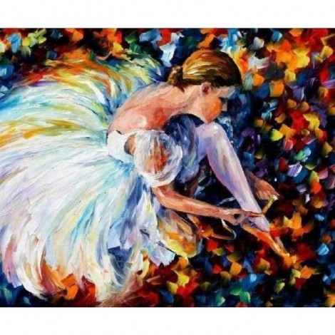 Full Drill - 5D Diamond Painting Kits Colored Drawing Dancer Girl