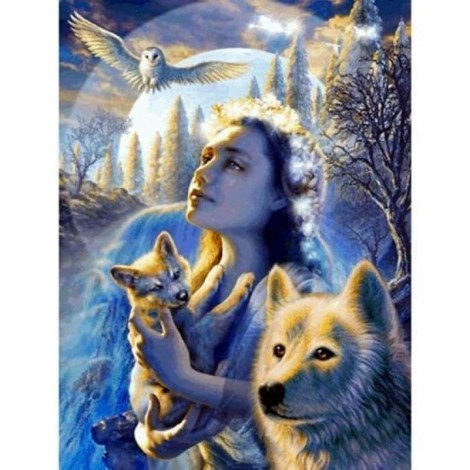 Full Drill - 5D DIY Diamond Painting Kits Winter Animal Wolf and Beauty Eagle