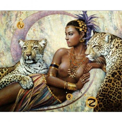 New Hot Sale Beauty And Animal Leopard Full Drill - 5D Diy Diamond Painting Kits