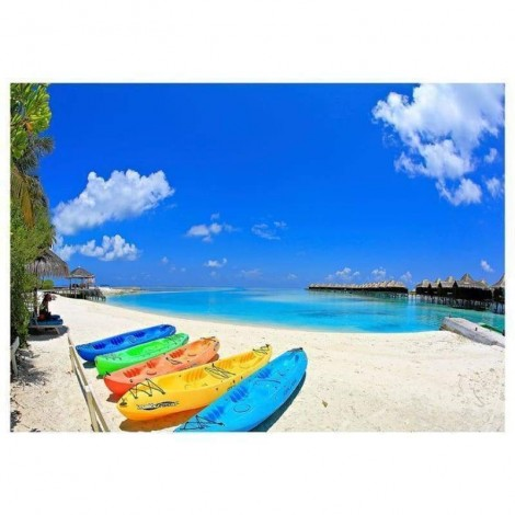 New Arrival Boat Beach Summer Diamond Painting AF9024