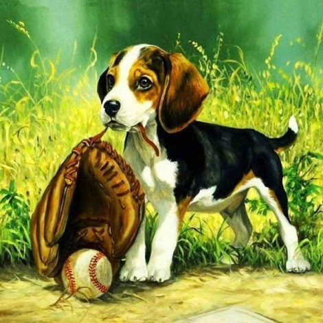 New Hot Sale Dogs And Baseball Full Drill - 5D Diy Full Diamond Painting Dogs Kits