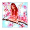 Full Drill - 5D DIY Diamond Painting Kits Cartoon Pink Angel on the Branches