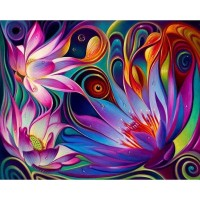 Abstract Flowers - Full D...